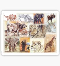 Lodge décor - South Africa's wildlife wonders Sticker
