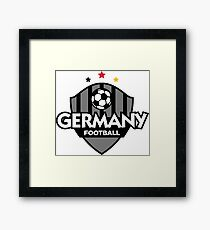 Football coat of arms of Germany Framed Print