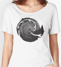 The Twilight Zone : BW // DJ Women's Relaxed Fit T-Shirt