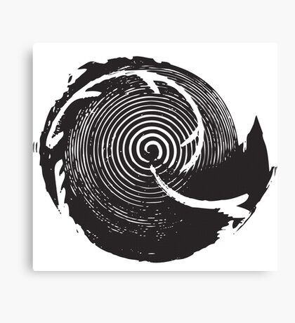 The Twilight Zone : BW // DJ Canvas Print