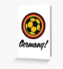 Football coat of arms of Germany Greeting Card