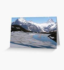 Bachalpesee with Fiescherhornen in the background, Switzerland Greeting Card