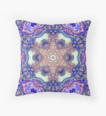 Abstract Concentric Mandala Throw Pillow