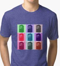 Warhol Inspired Public Police Call Box Tri-blend T-Shirt