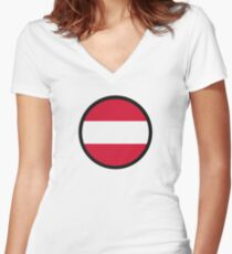 Marked by Austria Women's Fitted V-Neck T-Shirt