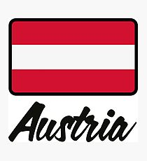 National Flag of Austria Photographic Print