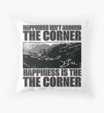 Happy Corner Throw Pillow