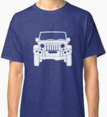 'Full Frontal' - Jeep Wrangler Bull Bar Tee Shirt Design - White Classic T-Shirt