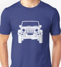 'Full Frontal' - Jeep Wrangler Bull Bar Tee Shirt Design - White Unisex T-Shirt