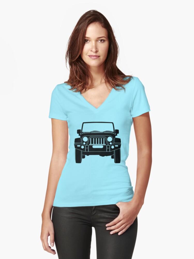 Cuello Para De Camisetas Frontal En V Entalladas Mujer «'full FgxwqZ