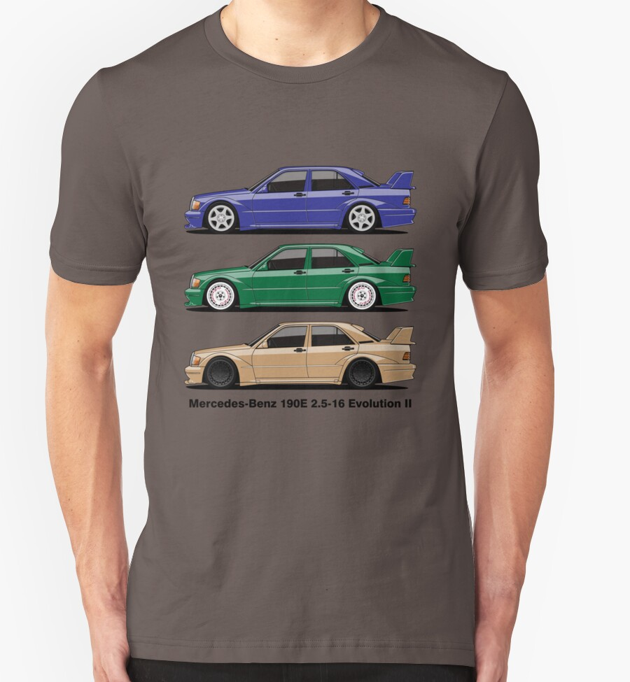 mercedes benz 190e evolution ii t shirts hoodies by. Black Bedroom Furniture Sets. Home Design Ideas