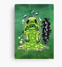 Cartoon Nausea Monster Canvas Print