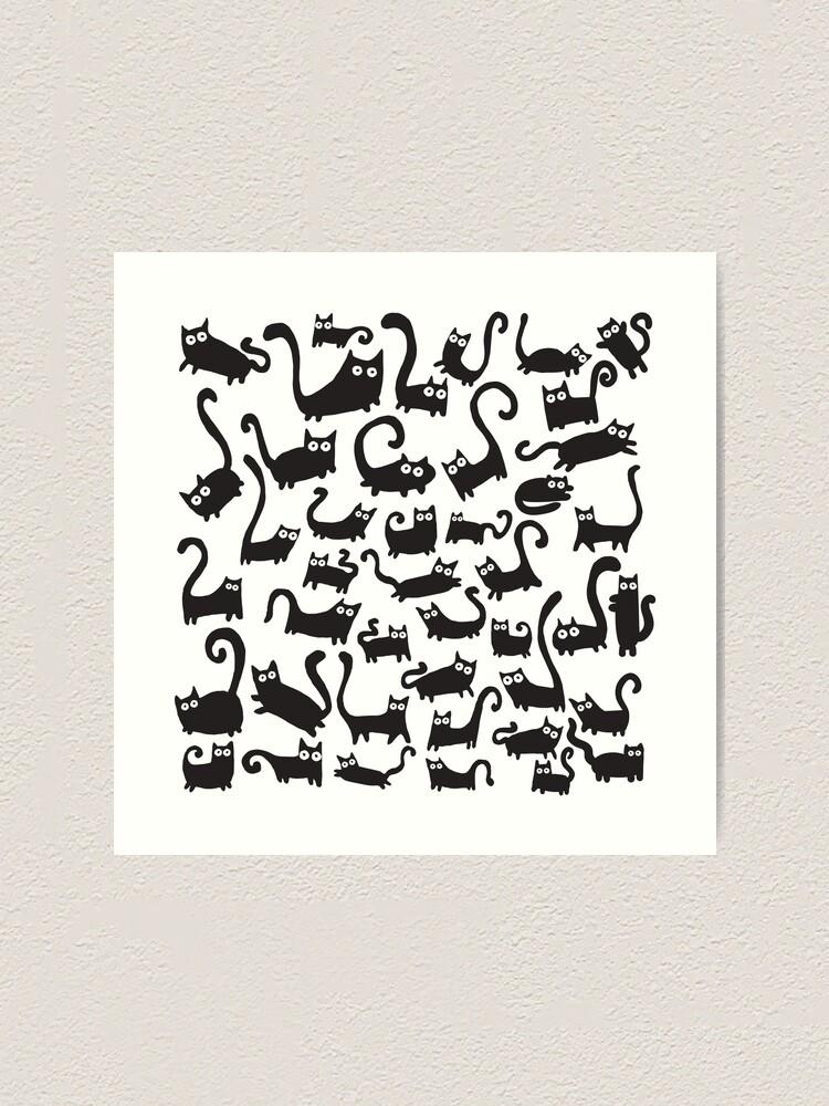 Alternate view of Black cats Art Print