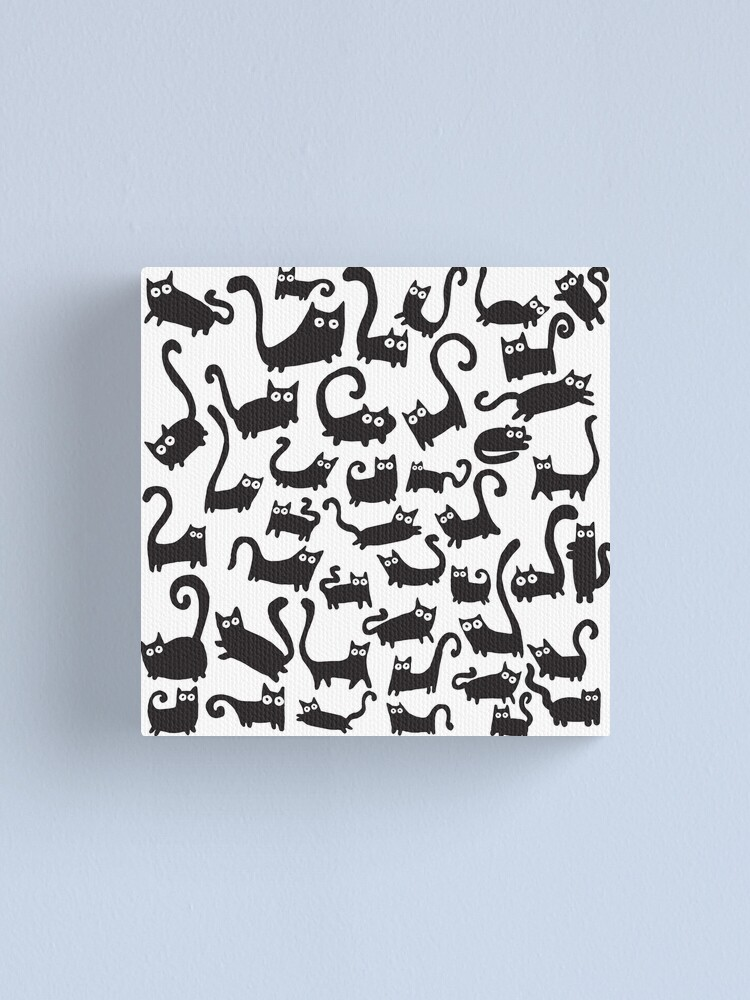 Alternate view of Black cats Canvas Print