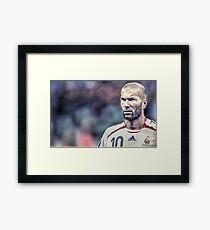 Zidane Framed Print