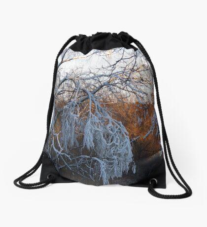 January riverside Drawstring Bag
