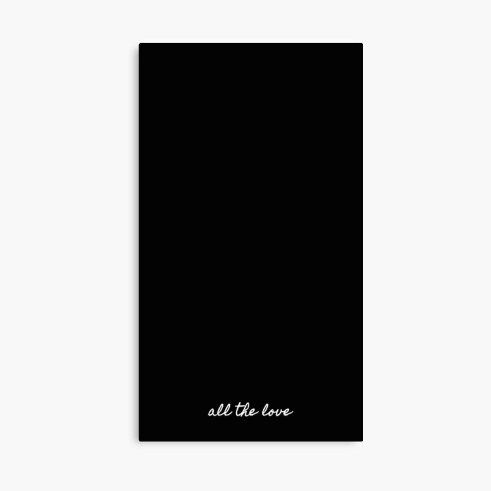 All the love - H Canvas Print