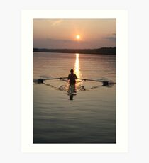 single sculler Art Print