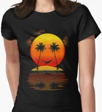 Sweet Smile of Sunset Womens Fitted T-Shirt