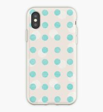 Striped circles iPhone Case