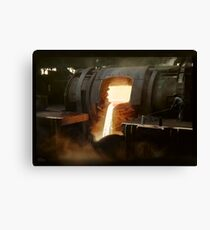 [Untitled] (Steel mill), ca. 1940 Canvas Print