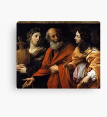 loth and her daughters fleeing sodome , Guido Reni.  Canvas Print