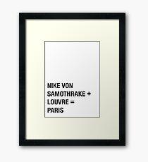 Nike Framed Print