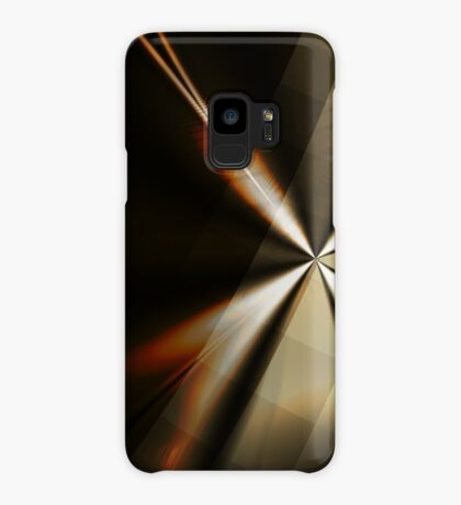 Brown and Gold Minimal Art Case/Skin for Samsung Galaxy