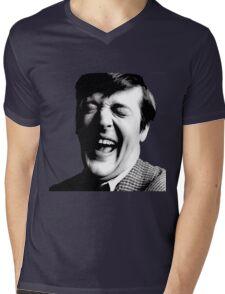 Stephen Fry Happy Mens V-Neck T-Shirt