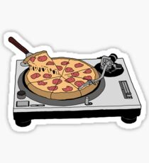 Pizza Record Sticker