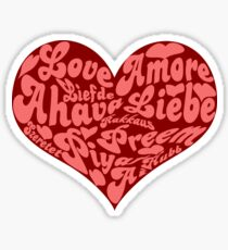 Love languages Heart for Valentine's day  Sticker