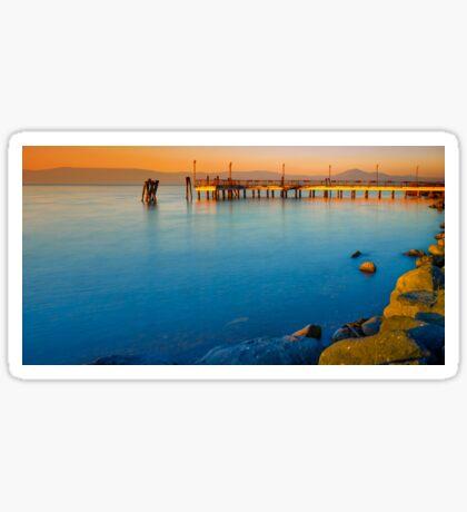 Bracciano Lake At Sunset Sticker