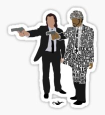 Jules and Vincent from Pulp Fiction Typography Quote Design Sticker
