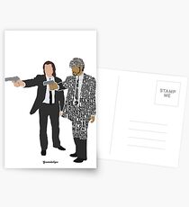 Jules and Vincent from Pulp Fiction Typography Quote Design Postcards