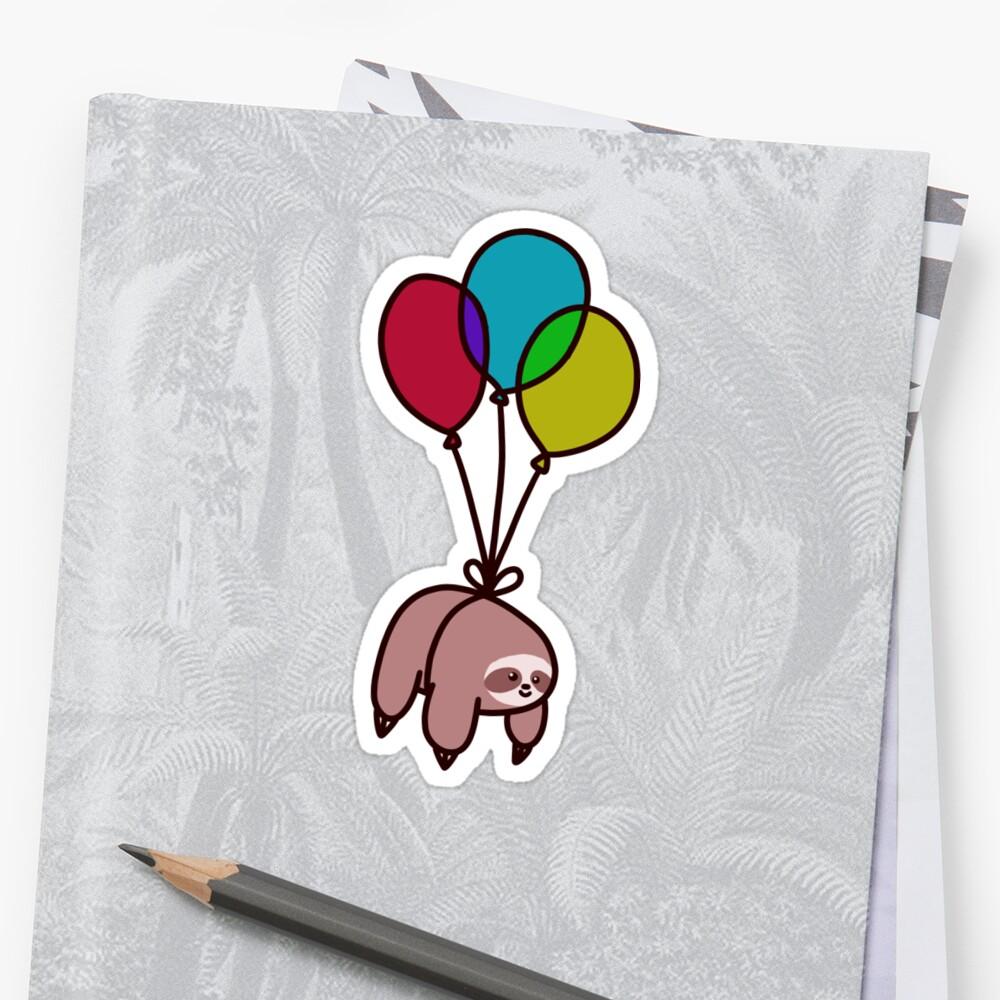 Ballon-Faultier Sticker
