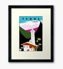 Retro vintage Tyrol Austria travel advertising Framed Print