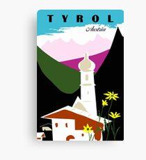 Retro vintage Tyrol Austria travel advertising Canvas Print