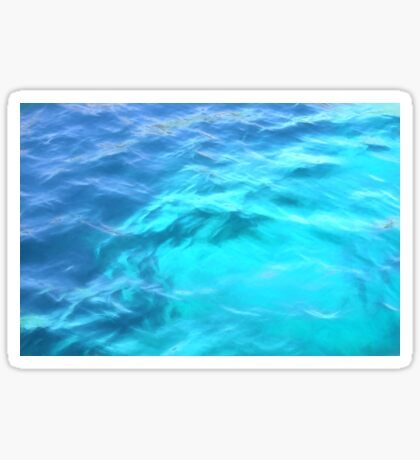 Abstract Water Background Sticker