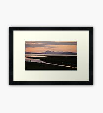 Camano Island, WA, at Sunset Framed Print