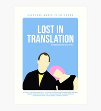 Lost In Translation film poster Art Print