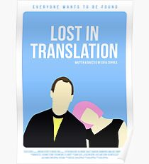 Lost In Translation film poster Poster