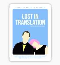 Lost In Translation film poster Sticker