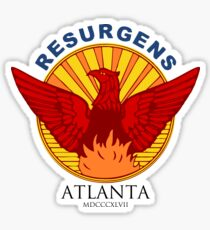 Atlanta Seal-Blue lettering Sticker