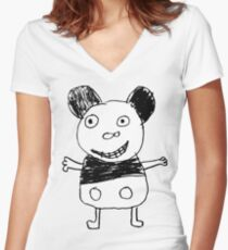 Micky Women's Fitted V-Neck T-Shirt