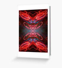 Neon Lust Greeting Card