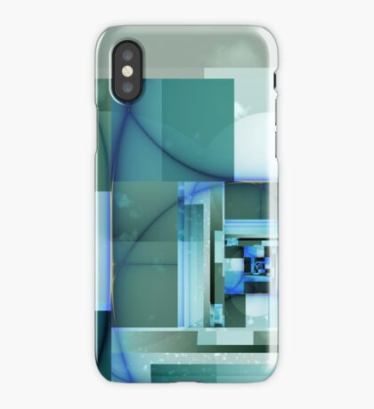 City Abstract - Blue / Teal iPhone Case