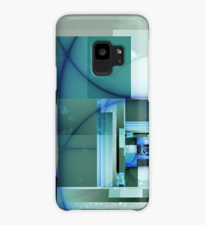 City Abstract - Blue / Teal Case/Skin for Samsung Galaxy