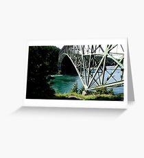 Deception Pass Bridge, Washington State, USA Greeting Card
