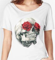 Camiseta ancha Rose Eye Skull