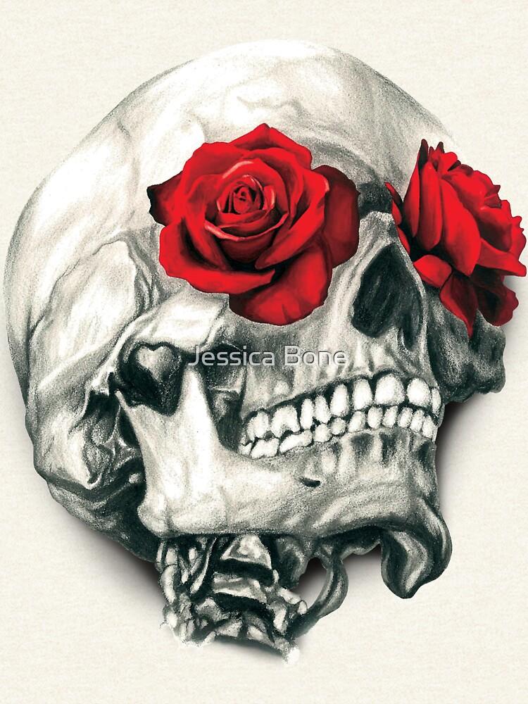 Rose Eye Skull de bonedesigns